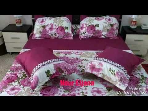 خياطة وتفصيل موديل جديد من مفارش غرفة النوم للعروس جديد 2017 Youtube Designer Bed Sheets Bed Cover Design Bed Sheets