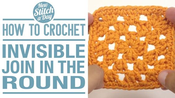 How to Crochet the Invisible Join (fasten off) in the Round.