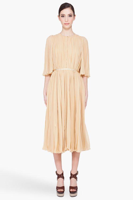 vanilla pleated gown ++ chloe