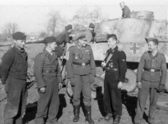 Tiger tank S23 and soldiers of SS-Panzer-Division Das Reich 2