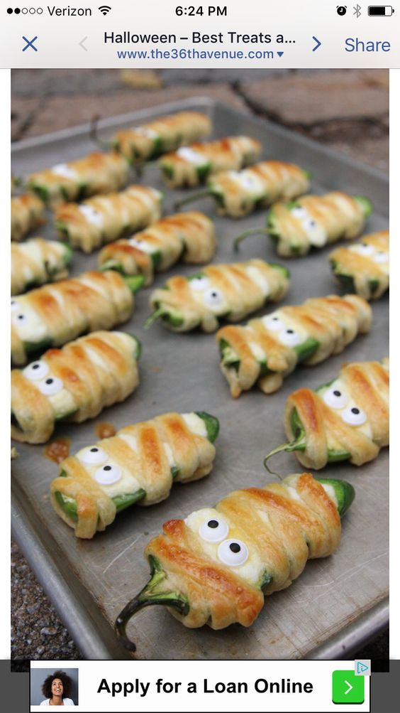 Clever Halloween Hors D 39 Oeuvres Holiday Pinterest