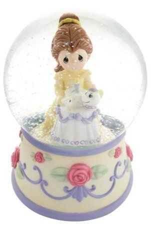 Amazon.com: Precious Moments Disney Collection Belle Birthday Musical Water globe: Furniture & Decor
