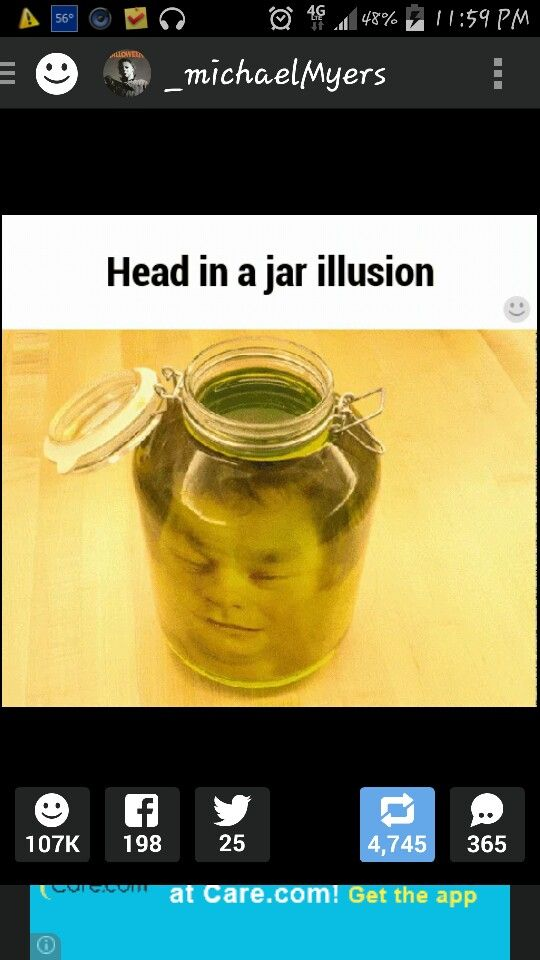 Head in a jar illusion how to make a head in a jar for Heads in jar