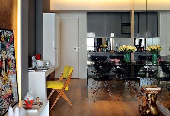 6 dicas para decorar uma sala de jantar pequena http://www.lojaskd.com.br/blog/2013/08/23/6-dicas-para-decorar-uma-sala-de-jantar-pequena/