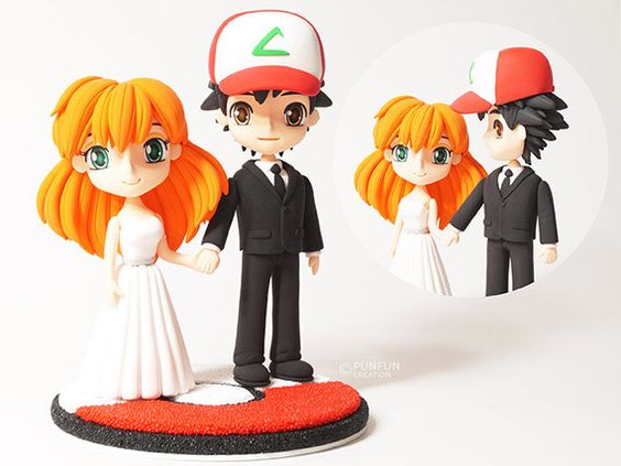 Wedding Ash and Misty from Pokemon by PunfunCreation on Etsy
