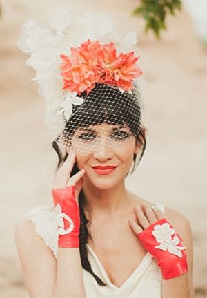 Wow! Check out this sassy orange eco-chic styled shoot.. very unique!