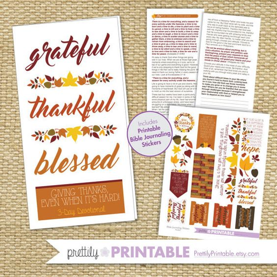 It's just an image of Dashing Printable Thanksgiving Devotions