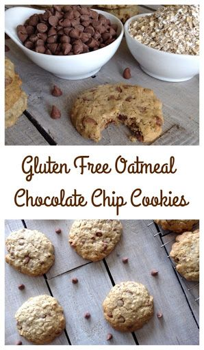 Gluten Free Oatmeal Chocolate Chip Cookies | Chip cookies, Gluten free ...