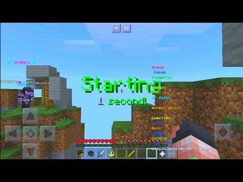 Server De Skywars Igual A Pc Para Minecraft Pe 1 5 2 Mcpe 1 6 Server Minecraft Pe Minecraft Server