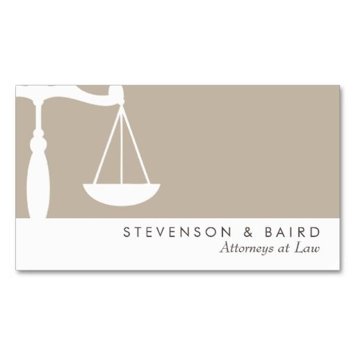 Classic ATTORNEY AT LAW | Elegant Business Card | Get started ...