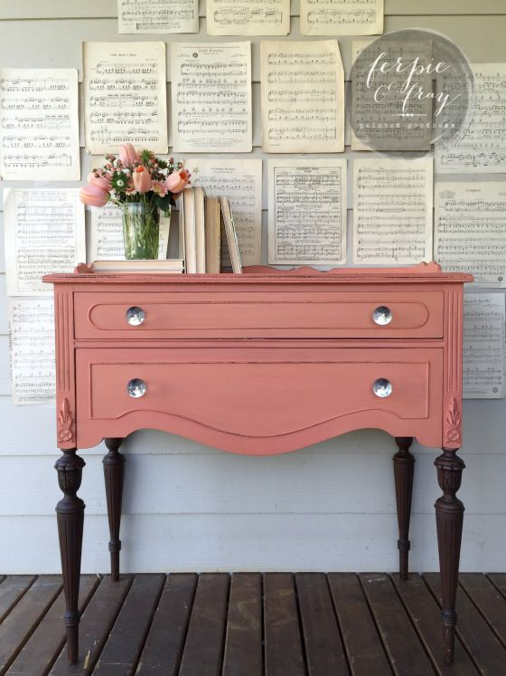 Mini-Buffet painted in Apron Strings from Miss Mustard Seed Milk Paint