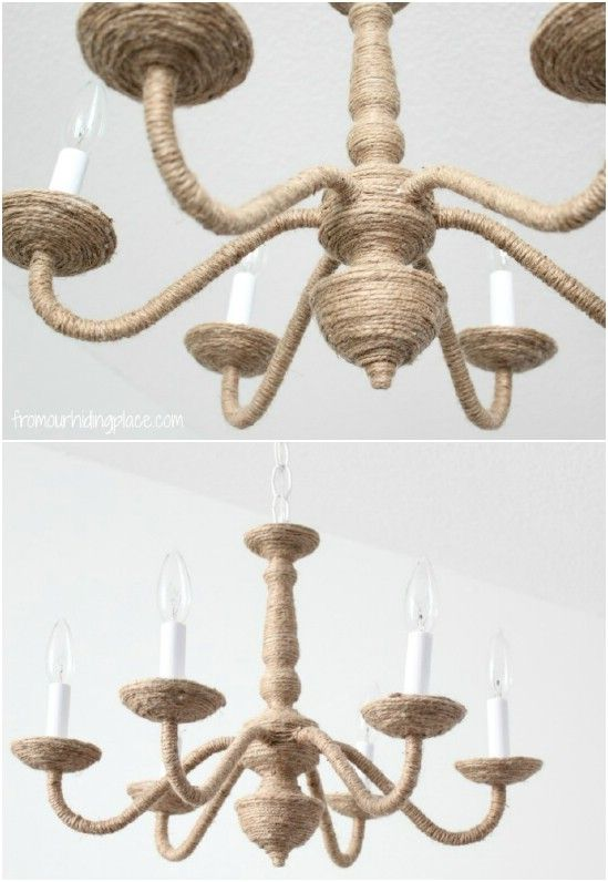 35 Diy Pottery Barn Knockoffs That Let You Decorate Your Home For Less Diy Chandelier Diy Pottery Pottery Barn Lighting