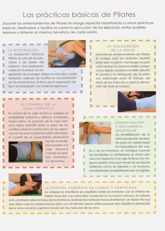 Las practicas básicas de Pilates