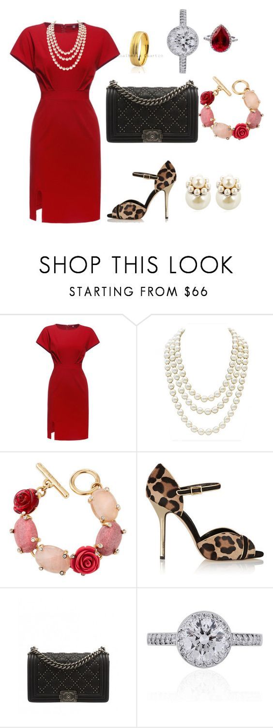 """""""2022 - Dinner with TQ"""" by dezac-novaes on Polyvore featuring Chanel, Oscar de la Renta, Tiffany & Co. and Mawi"""