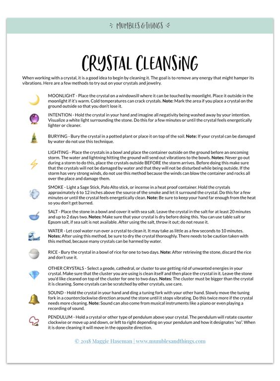 How To Clean Crystals