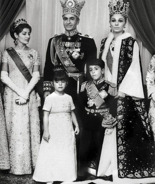 Emperor Mohammad Reza and Empress Fara Diba Pahlavi