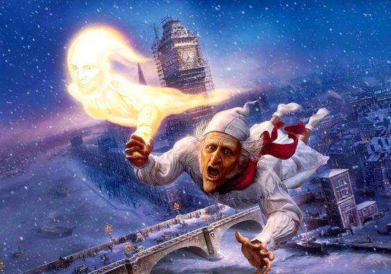 Download Wallpaper Old man, Flight, Pajamas, Night, Snow HD Background