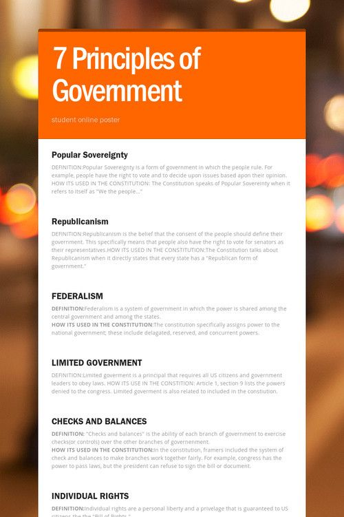 7 Principles Of Government With Images Principles Online