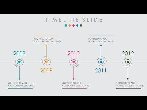 Animated Powerpoint Timeline Slide Design Tutorial  Youtube