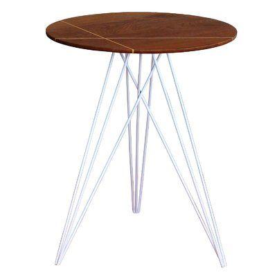 Tronk Design Hudson End Table Base Color White Top Color Walnut Hudson Table Antique End Tables End Tables
