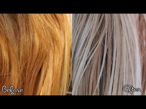 How to Remove Brass from Blonde Hair: Ash Blonde Hair Tutorial - YouTube
