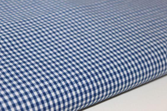 Baumwoll+Karo+blau+100%+Baumwolle+von+JulaMade+auf+DaWanda.com