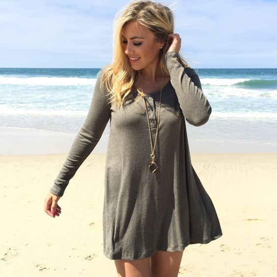 Welcome To Paradise Ribbed Dress In Olive