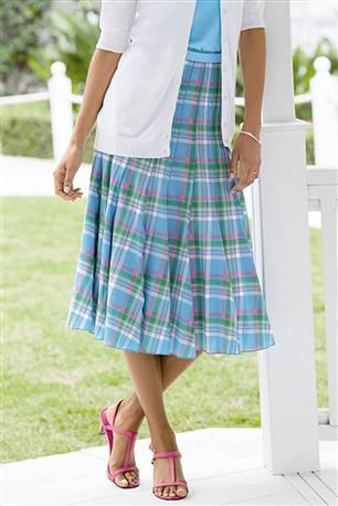 Pleated-Printed-Cotton-Skirt