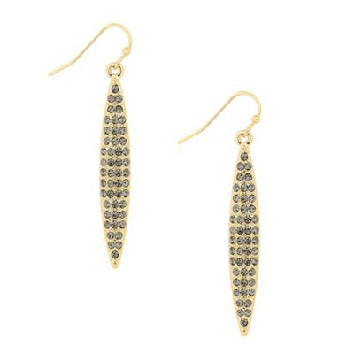 Principles by Ben de Lisi Designer grey crystal navette drop earring- | Debenhams