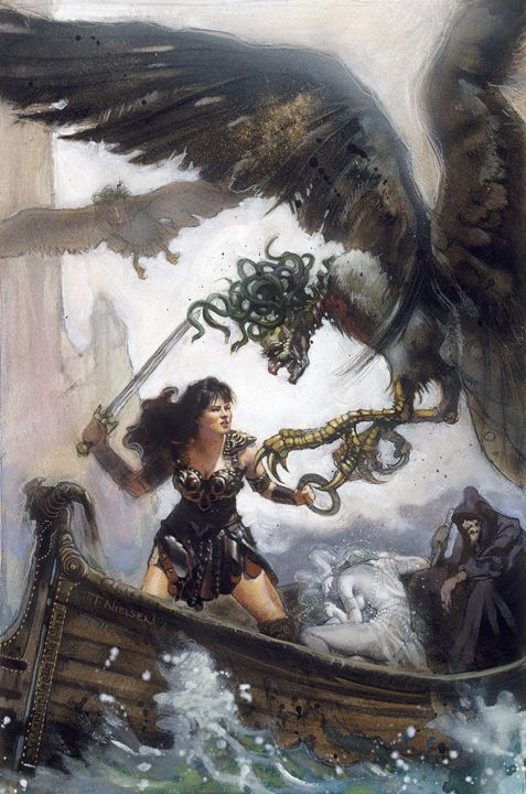 Xena and the Furies Artwork by TereseNielsen