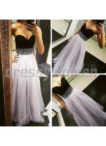 2015 Elegant Column Sweetheart Sleeveless Beading Floor-Length Prom Dresses CHPD-90053