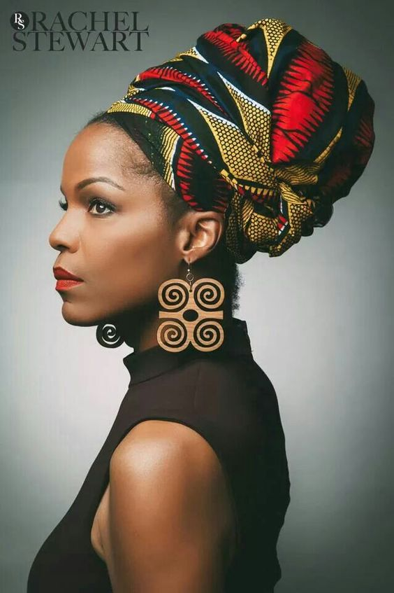 Image result for african print hair scarves