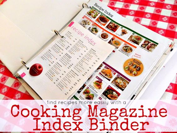 Simple Cooking Magazine Organization - Mad in Crafts