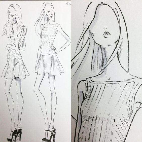 """POLO Woman by Ralph Lauren Designer Sketch @ralphlauren #ralphlauren #renaldobarnette #dress #design #designsketch #knitdress #fashion #fashiondesign…"""