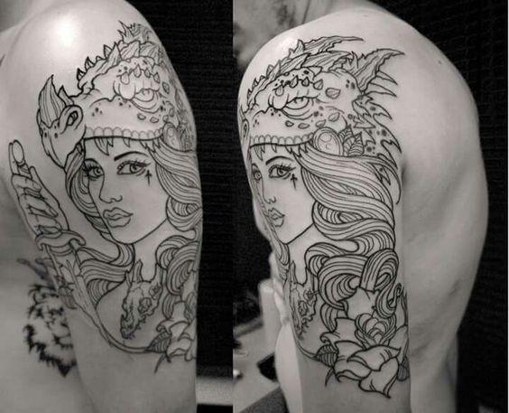 Feita pelo tatuador Rogerio Vieira