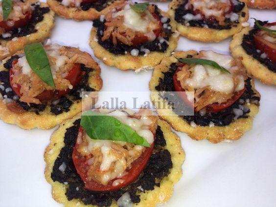 Les secrets de cuisine par Lalla Latifa - Pizzas individuelles à la tapenade - Les secrets de cuisine par Lalla Latifa