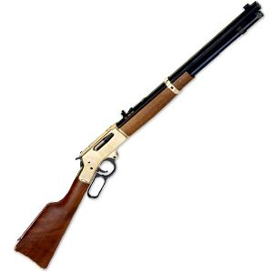 """Henry Lever Action Rifle in .30-30 Winchester, Brass Receiver, Walnut Stock, 20"""" Octagonal Barrel"""