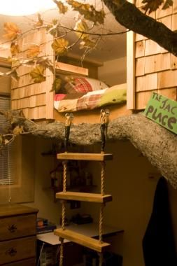 treehouse bed - Google Search   kids   Pinterest   Treehouse ...