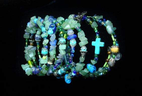 Jewelry Bracelet Stacked Bangle Bracelet by oldredmaredesigns, $28.25