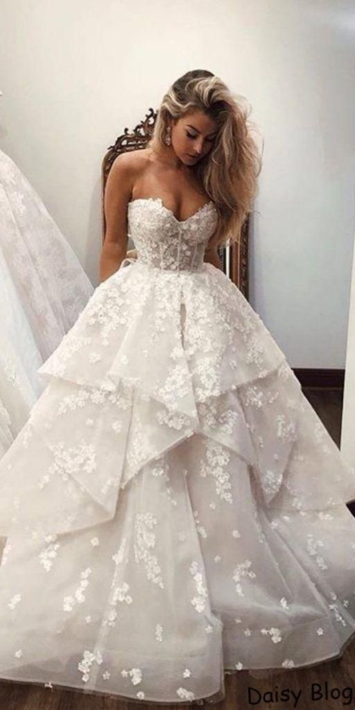 24 Lace Ball Gown Wedding Dresses You Love Wedding Dresses Lace Ballgown Embroidered Wedding Dress Ball Gowns Wedding