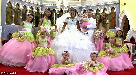 My bigger fatter gypsy christmas larger wedding dresses for Big bling wedding dresses