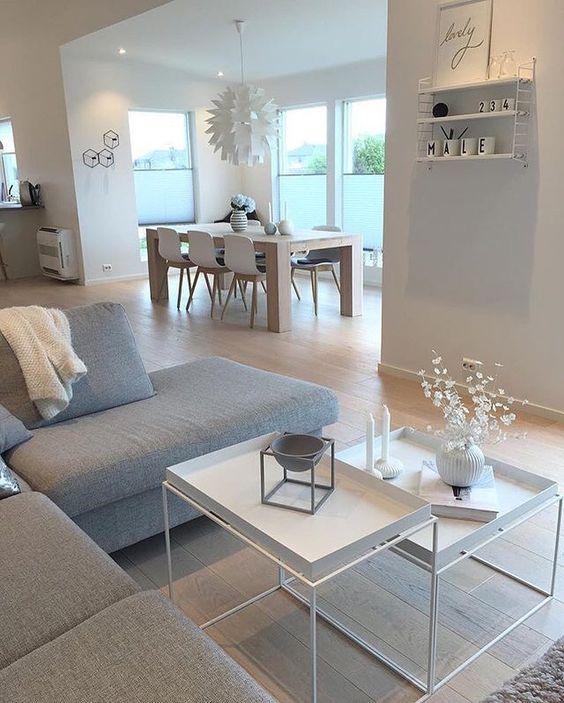 """Noiva de Evase Coisas de Casa on Instagram: """"Uma inspiração de decor #escandinavo nas cores branco e cinza para homenagear a quarta-feira de... cinzas!!! . . . #arquitetura…"""""""