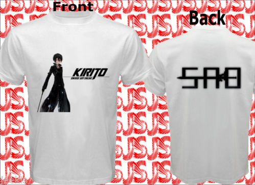 KIRITO Sword Art Online SAO Men T-shirts Men Tees