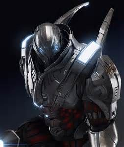 This suit of armor was modified and built for ultimate stealth for the Eclipse Guards of the realm Su'to'ga'kuri. This suit of armor cannot be detected by any sort of radar and is nearly indestructible, the weak point is a small unprotected spot on the back where the armor (if it were to touch his skin) would burn away his/her skin and slowly begins disintegrating the wearer.