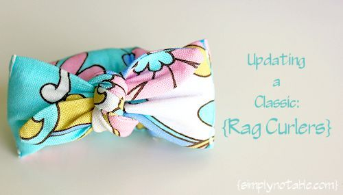 Rag curlers...maybe for my little girl
