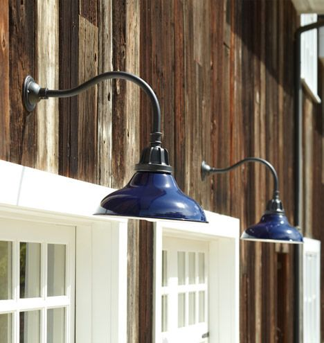 Carson gooseneck wall mount warehouse wall fixture for Outdoor garage light fixtures