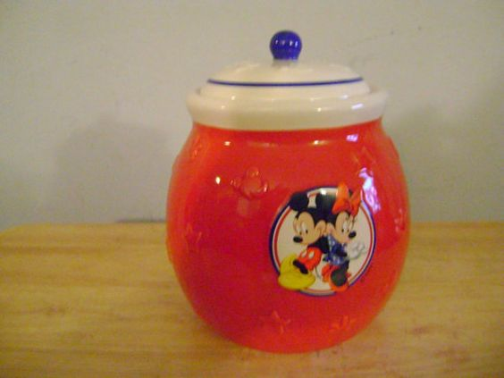 Disney Mickey and Minnie Mouse Cookie  Jar by DKCollectibles