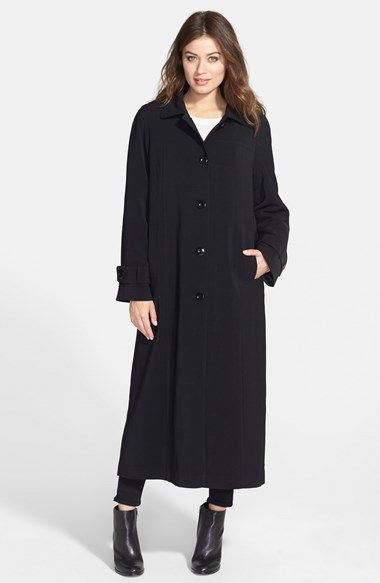Women&39s Gallery Full Length Nepage Coat with Detachable Hood
