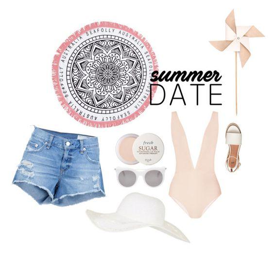 """Summer Fling"" by meantony ❤ liked on Polyvore featuring Miu Miu, Seafolly, Hender Scheme, Alexander McQueen, Fresh, Topshop, rag & bone/JEAN, beach and summerdate"
