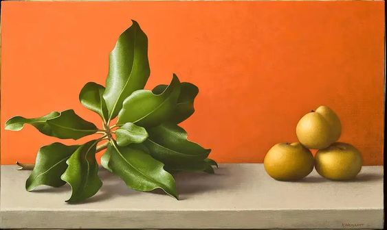 Amy Weiskopf. Magnolia Branch and Asian Pears, 1993